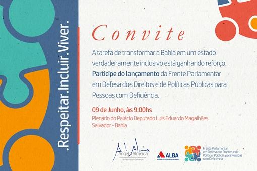 ANGELO ALMEIDA - FRENTE PARLAMENTAR - CONVITE - SAIDA