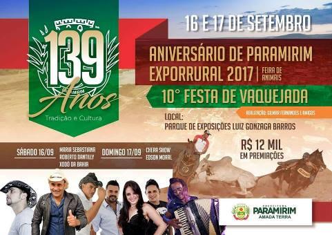 139 anos Paramirim